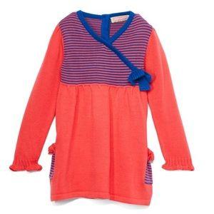 Coral & Blue Stripe Surplice Tunic (almost Dress)
